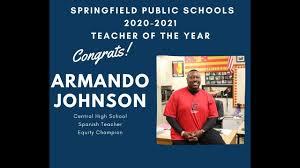Armando Johnson named SPS 2020-2021 Teacher of the Year