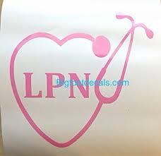 Lpn Nurse Decal Stethoscope Heart Emergency Care Doctor Car Truck Window Sticker Ebay