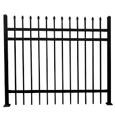 China Powder Coated Modern Steel Fence Design Square Tube Fence Wrought Iron Fence China Fencing System Fence Panel