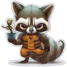 Marvel Avengers Guardians Of The Galaxy Rocket Raccoon Car Decal Stick Anime Stickery Online