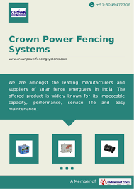 Solar Fence Energizer By Crown Power Fencing Systems