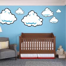 Super Mario Bros Clouds Wall Decal Bedroom Stickers Mario Bros For Kids Video Game Wall Decal Murals Primedecals