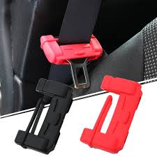 1x auto silicone car seat belt buckle