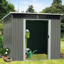 outdoor metal garden shed
