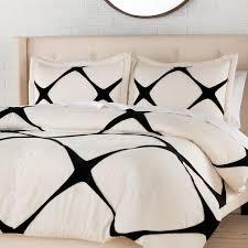 parry comforter black white diamond bedding