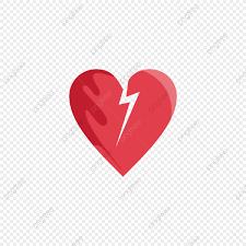 القلب المكسور أحمر ضمادة شكل قلب Png وملف Psd للتحميل مجانا