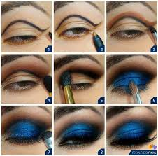 deep blue makeup tutorial alldaychic