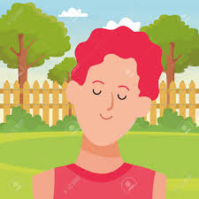 Man Portrait Avatar Cartoon Character In The Back Yard With Garden Royalty Free Cliparts Vectors And Stock Illustration Image 123193403