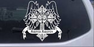 Forever Forgiven Cross Wings Car Or Truck Window Decal Sticker Rad Dezigns