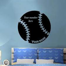 Personalized Name Baseball Vinyl Wall Decal Sticker Room Home Decor Art Diy Large Wall Stickers Large Wall Stickers For Kids From Langru1002 9 75 Dhgate Com