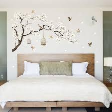 White Blossom Tree Branch Wall Sticker Cherry Blossom Decals Mural Decor Alexnld Com