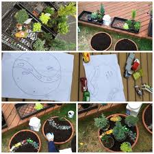 making fairy gardens on a rainy day
