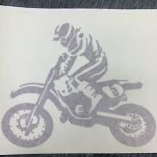 Super Motocross Rider Dirt Bike 5 Vinyl Decal Bumper Sticker Car Truck Window Ebay