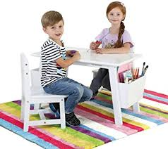 Amazon Com Kids Study Table Solid Wood Children S Tables And Chairs Children S Room Toys Game Desk Can Withstand 200kg Weight Color White Furniture Decor