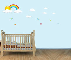 Amazon Com Rainbow And Cloud Wall Decals For Nursery Kids Decals Baby