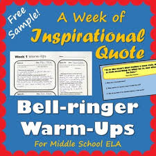 quote of the day bellringer warm ups week by english