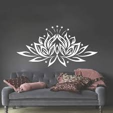 Vova Vinyl Wall Decal Bedroom Sticker Lotus Flower Yoga Studio Bohemian Decor