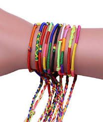 10pc Hand Woven Braided Thread Friendship Bracelets Party Favours ...