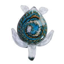 swirled glass sea turtle paperweight