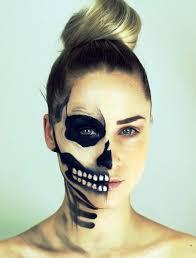25 half face halloween makeup ideas for
