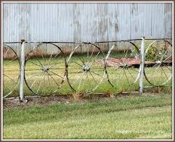 Meggie On The Prairie Wagon Wheel Fence For Friday Fences
