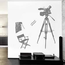 Movie Shooting Tool Camera Wall Stickers Vinyl Movie Theme Decal Cinema Wallpapers Wall Decor Decals Posters Removable Lc1599 Wall Stickers Aliexpress
