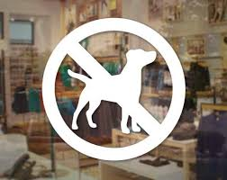 No Pets Decal No Animals Sign Store Business Sticker Window Storefront Restaurant Store Decals