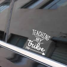 Yjzt 14 1cm 14 3cm Teaching My Tribe Arrow Vinyl Decal Car Sticker Black Silver C10 02157 Car Stickers Aliexpress