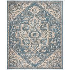 blue 8 ft x 10 ft area rug lnd138n