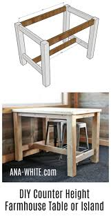 counter height farmhouse table for four