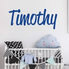 Amazon Com Personalized Custom Name Wall Decal For Baby Boy Nursery Room Anti Glare Large Matte Vinyl Monogram Lettering Safe On Walls Paint Made In Usa Handmade To Order