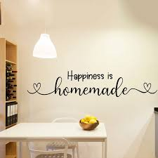 Large Happiness Is Homemade Heart Wall Sticker Kitchen Bedroom Family Love Quote Wall Decal Kids Room Farmhouse Vinyl Decor Wall Stickers Aliexpress