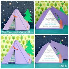 Linda Invitacion De Campamento Temas De Fiesta De Cumpleanos