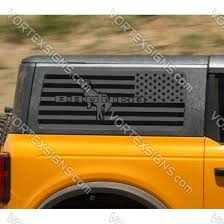 Ford Bronco Side Window Usa Flag Decal Decals Stickers Online