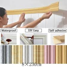 Pratical Home 3d Self Adhesive Decorative Wall Molding Skirting Line Mural Border Sticker Wish