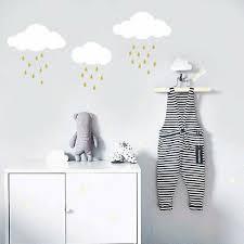 Cloud And Raindrop Wall Decals Nursery Decal Cloud Decal Kids Room Decal Ga77 Ebay