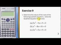 solve quadratic equation using