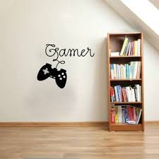 Zoomie Kids Hobbes Gamer Video Game Controller Silhouette Vinyl Graphic Word Wall Decal Wayfair