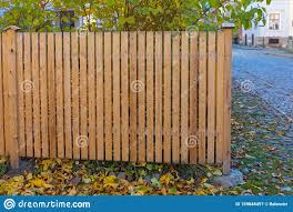 Wooden Garden Fence Stock Image Image Of Structure 159848497
