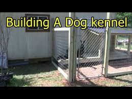 Building A Dog Kennel Youtube