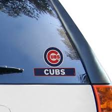 Official Chicago Cubs Car Decals Cubs Auto Truck Emblems Mlbshop Com