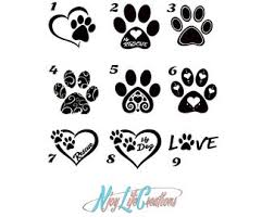 Dog Paw Decal Etsy