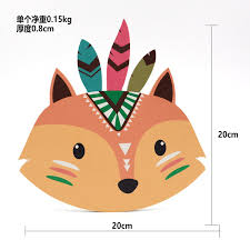 8 Nordic Style Home Kids Room Decorations Punch Free Wood Plastic Board Cartoon Animal Head Wall Hanging Decorations Gift Children In Decorative Boards From Home Garden Peony Bridal Bouquet