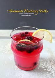 homemade blueberry vodka and lemonade