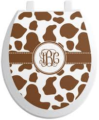 Cow Print Toilet Seat Decal Personalized Youcustomizeit