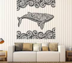 Vinyl Decal Wall Sticker Ocean Whale Decorative Tribal Ornaments Art N995 For Sale Online