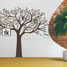 Large Family Photos Tree Vinyl Wallpaper Black Tree Branches Decals Wall Sticker For Living Room Sofa Home Decor Removable Q131 Wall Stickers Aliexpress