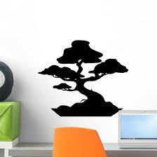 Bonsai Wall Decal Design 2 Wallmonkeys Com
