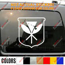 Kanaka Maoli Flag Hawaiian Hawaii Decal Sticker Car Vinyl Pick Size Color B Ebay