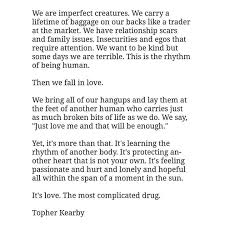 imperfect creatures by topher kearby quotes and sayings facebook